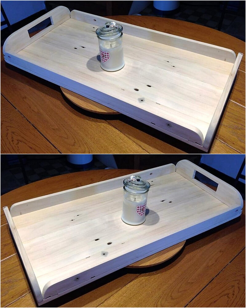 wooden pallet serving tray