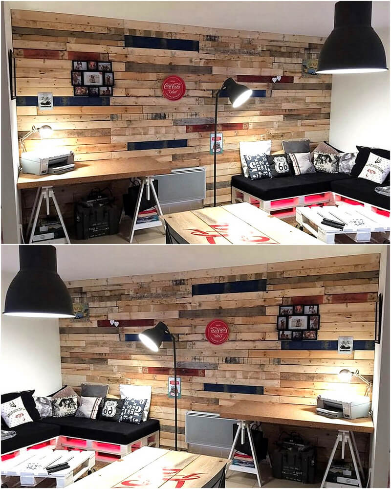 wooden pallet wall art work