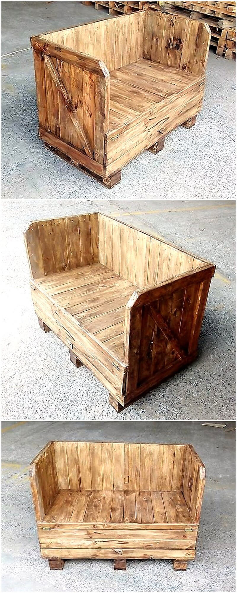 wooden pallets made bench