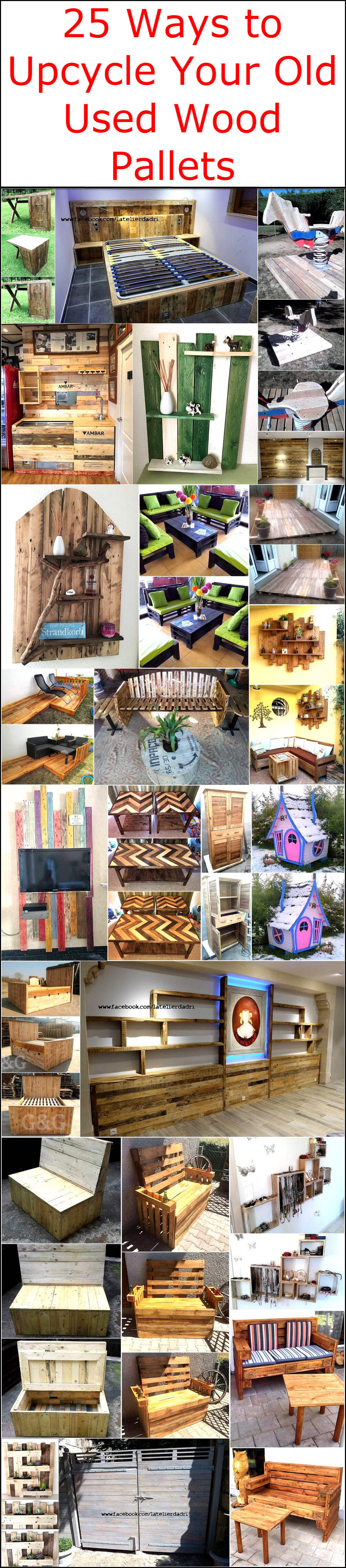 25 Ways to Upcycle Your Old Used Wood Pallets
