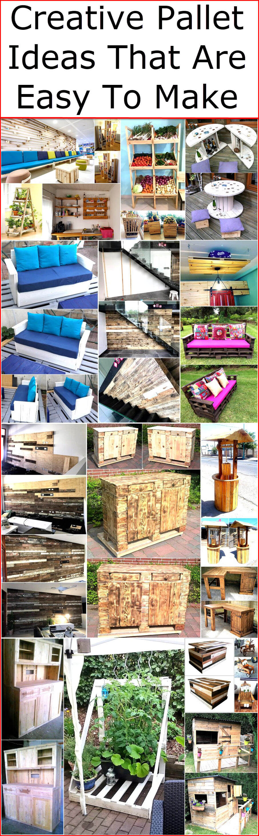 Creative Pallet Ideas That Are Easy To Make