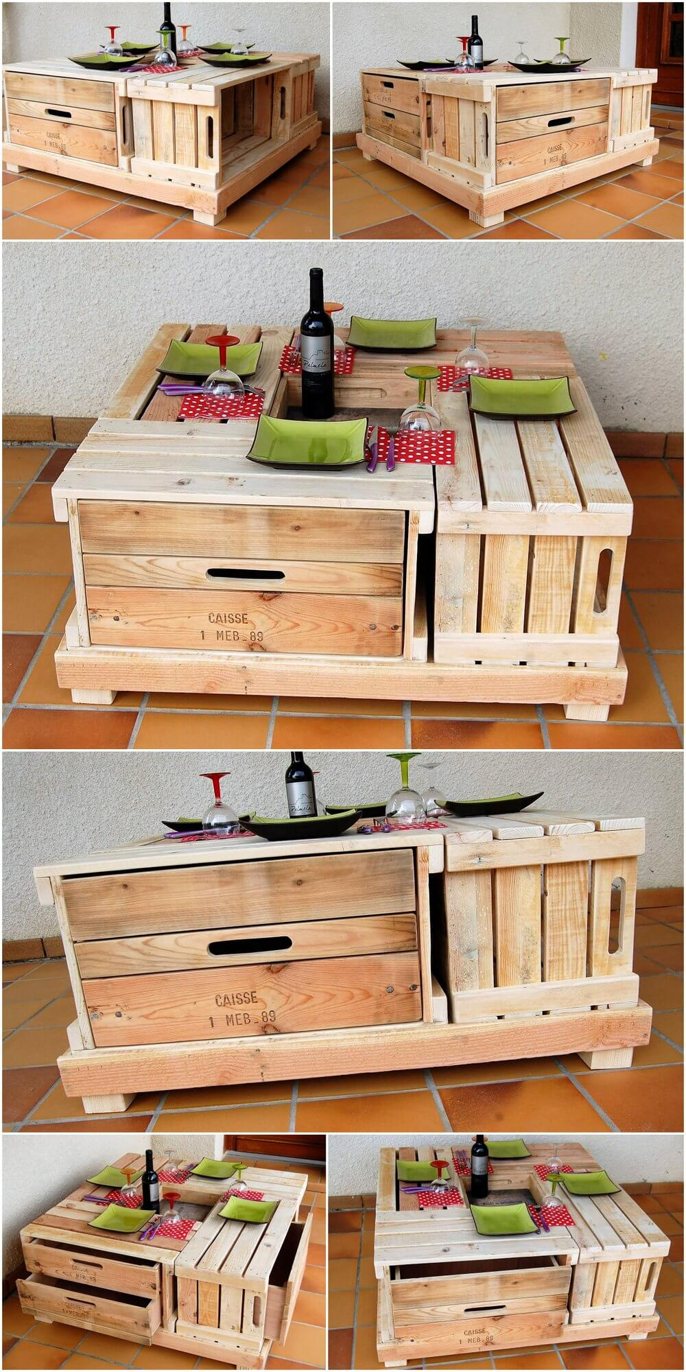 Repurposed Wood Pallets Lounge Table