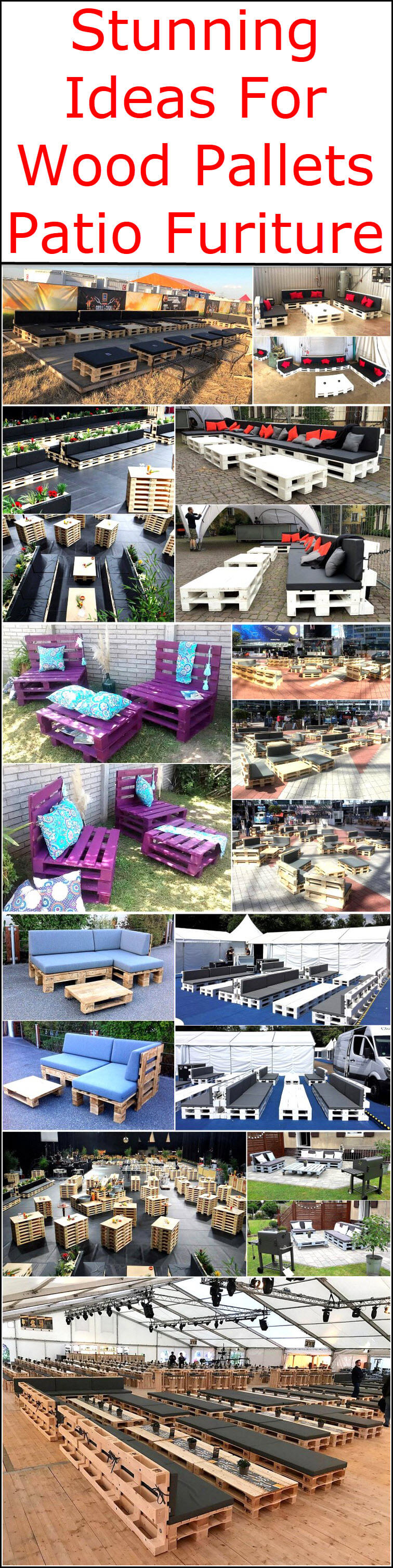 Stunning Ideas For Wood Pallets Patio Furiture