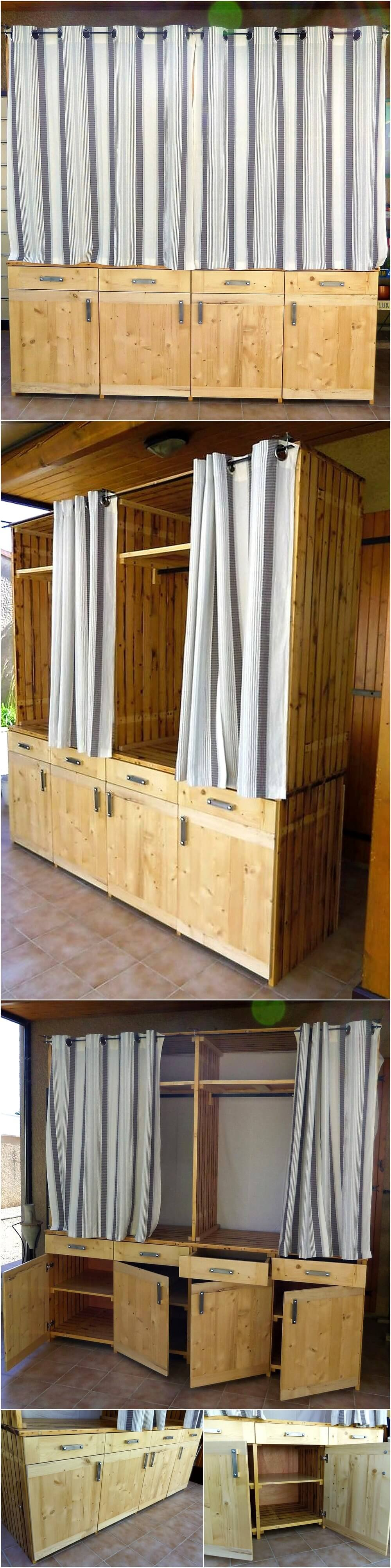 Wooden Pallets Made Dressing Room Idea