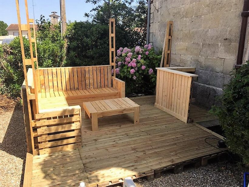 Diy Pallet Patio Deck Plan
