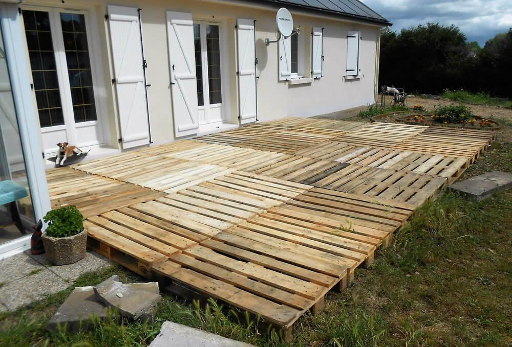 diy wood pallet terrace