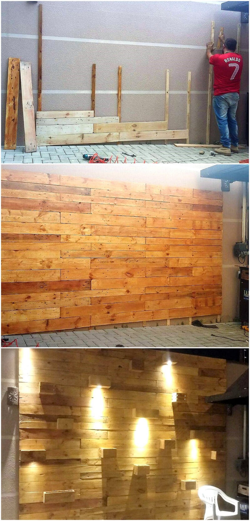 diy wooden pallet wall art