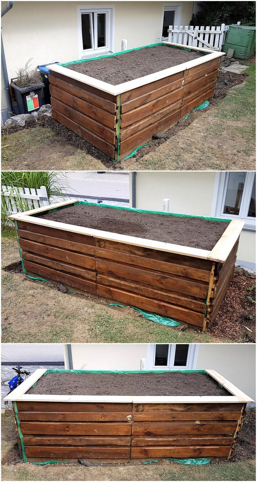 garden planter made with pallets