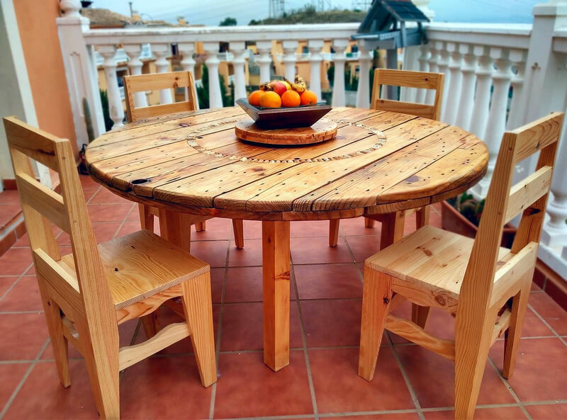 pallet and cable reel furniture