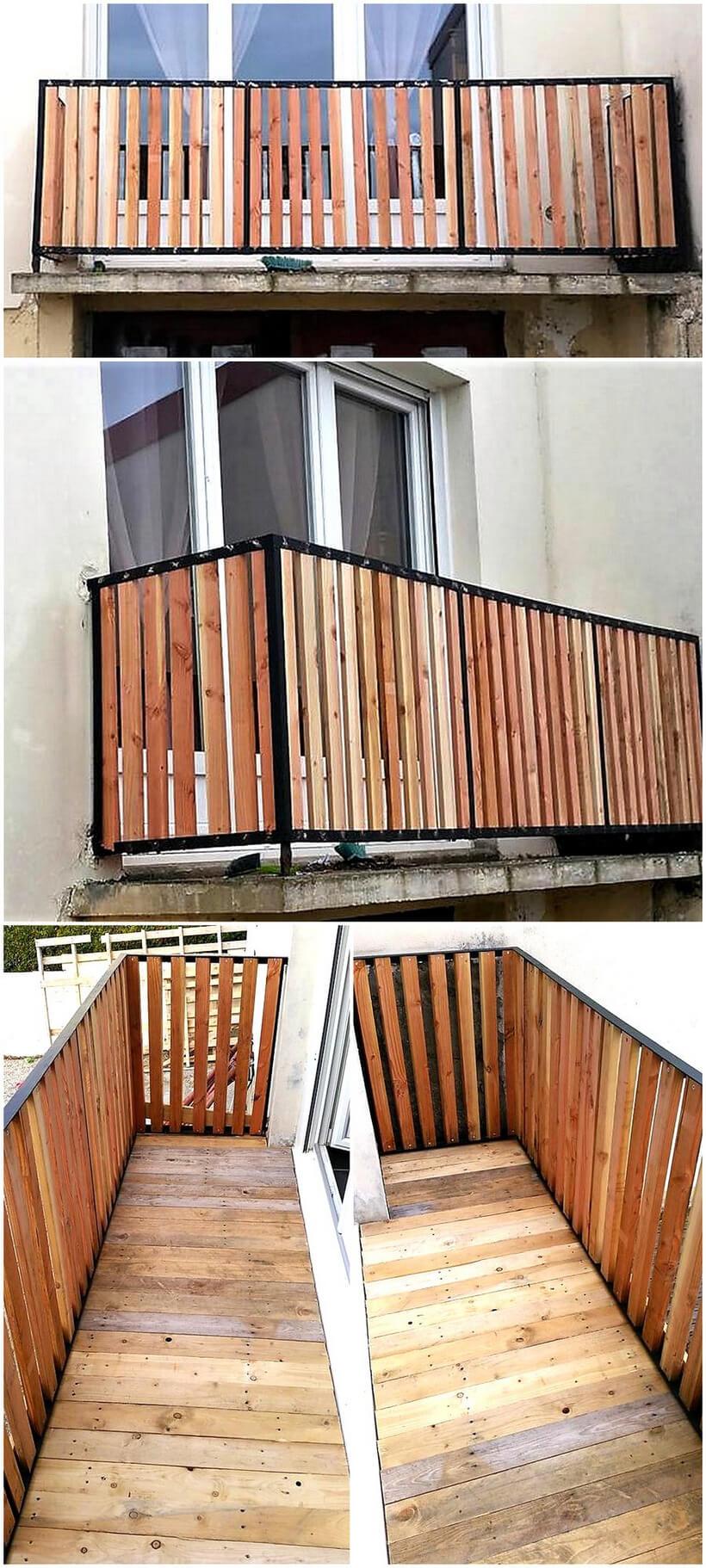 pallet balcony fence