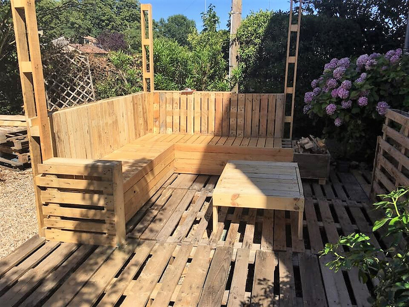pallet furniture for patio deck