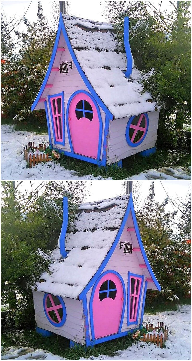 pallet patio house cabin for kids