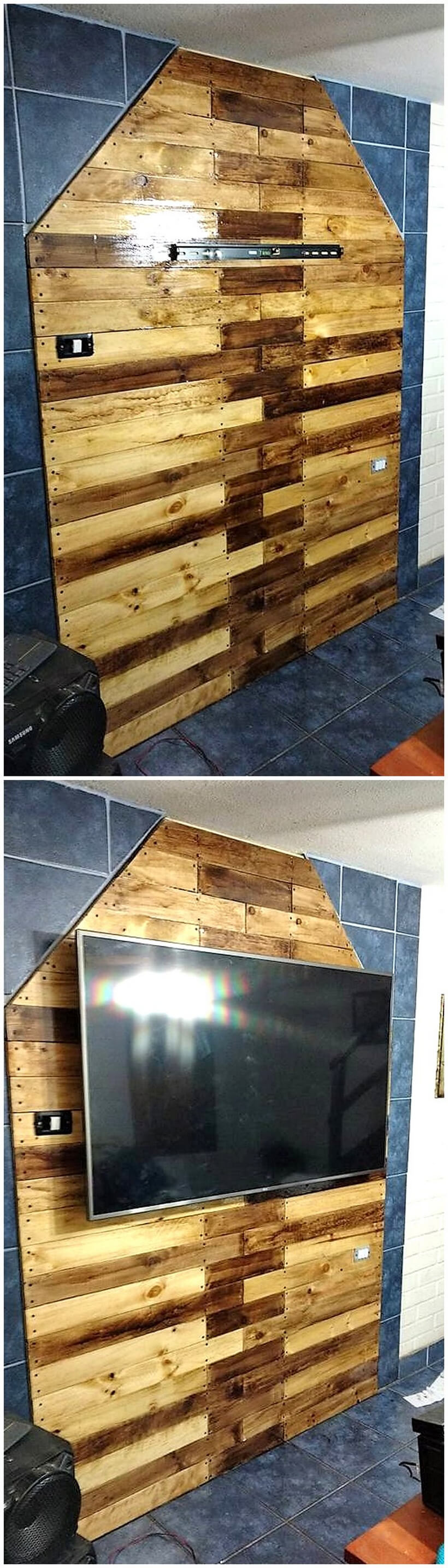 pallet wall art for lcd