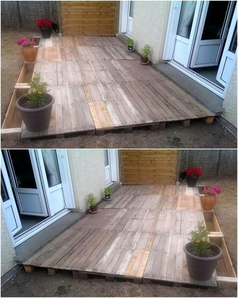 pallets backyard terrace