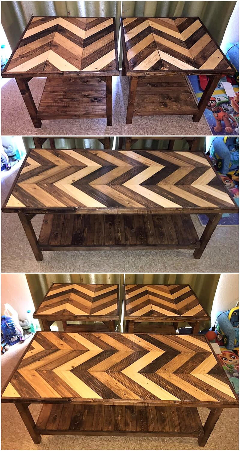 pallets coffee and end tables