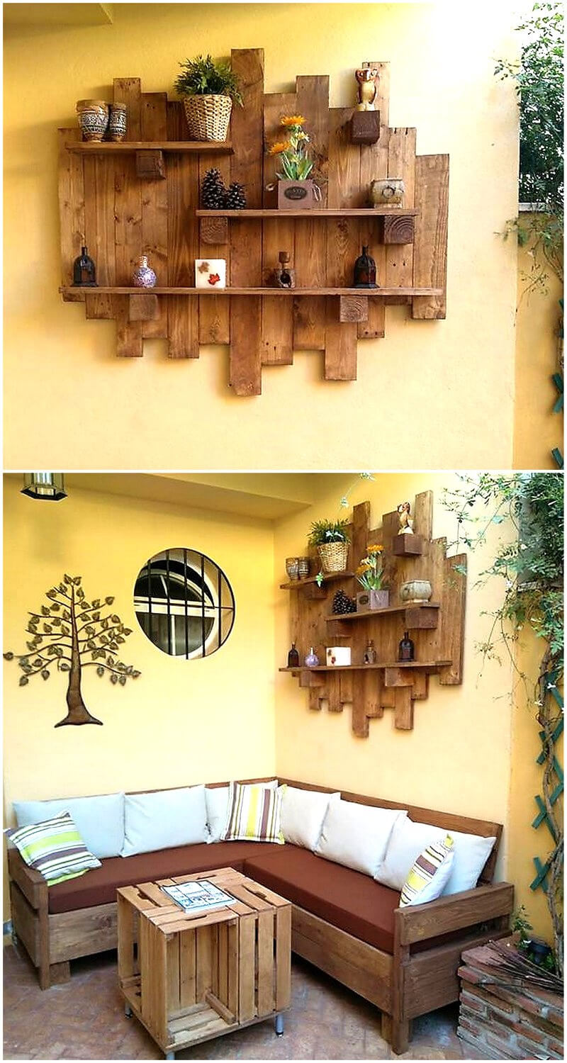 Awesome Pallet Wall Decor Contemporary - The Wall Art Decorations ...