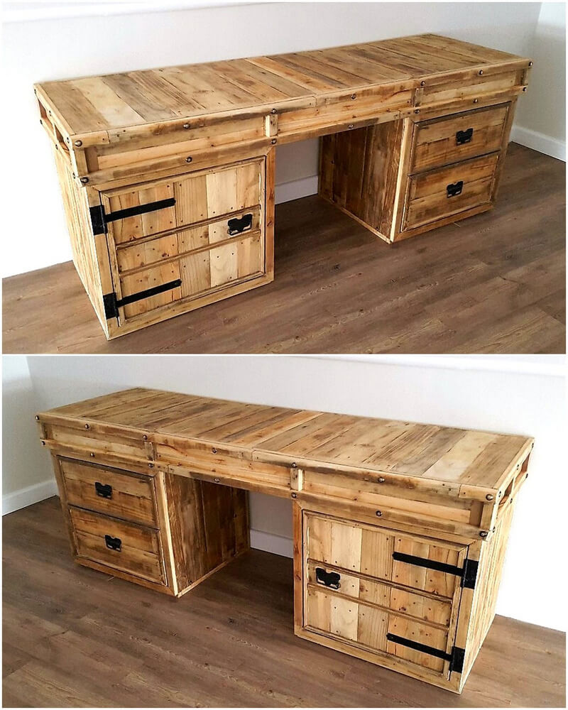 Pallet Entry Table Creative Diy Wooden Pallets Recycling Ideas Wood Pallet Furniture