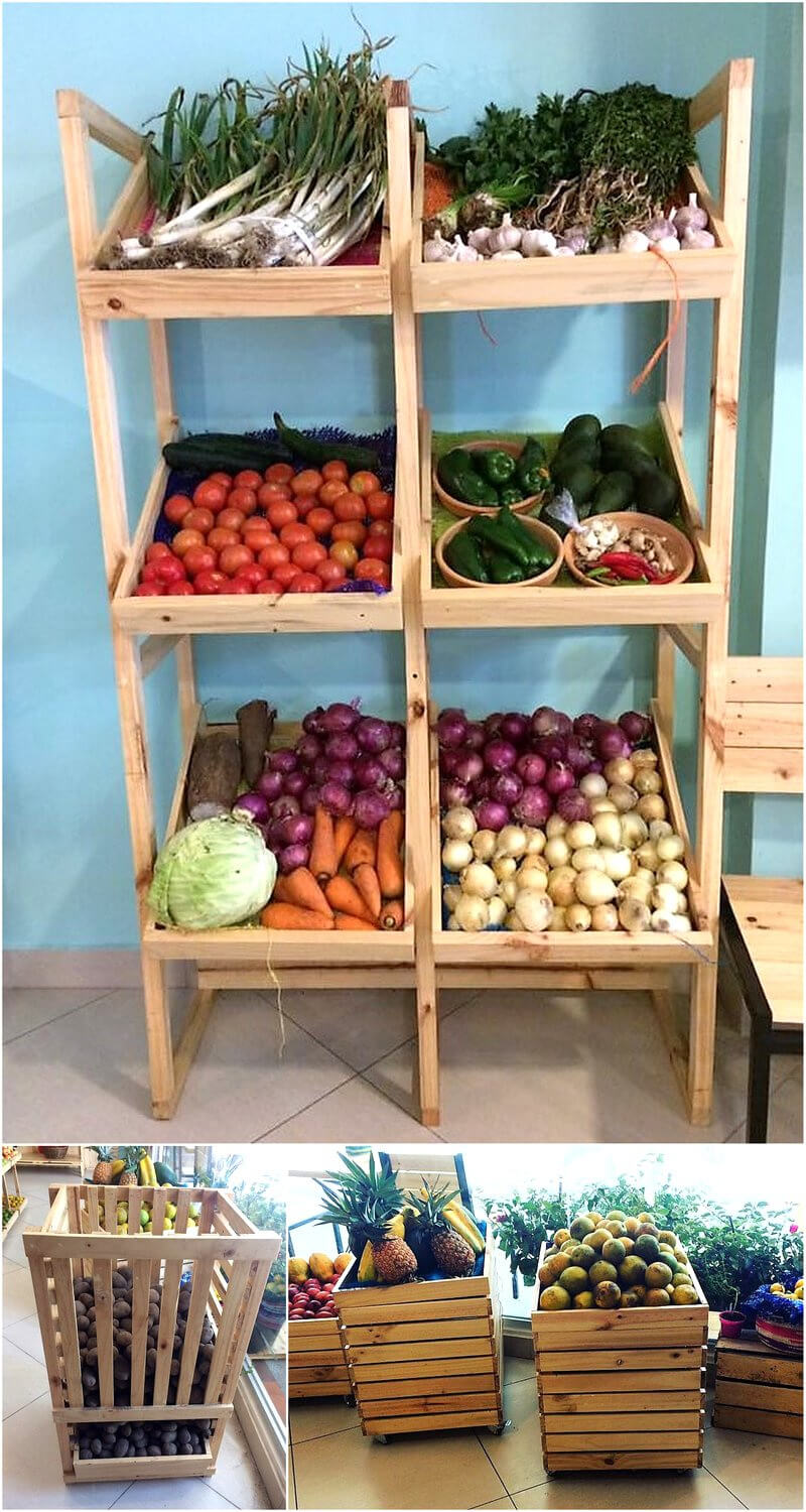 pallets fruit racking