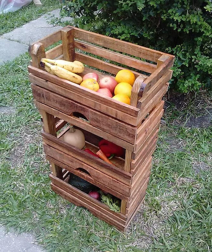 pallets fruit storage rack 3