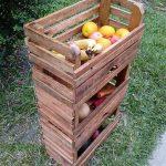 Recreated Wood Pallets Fruit Storage Rack