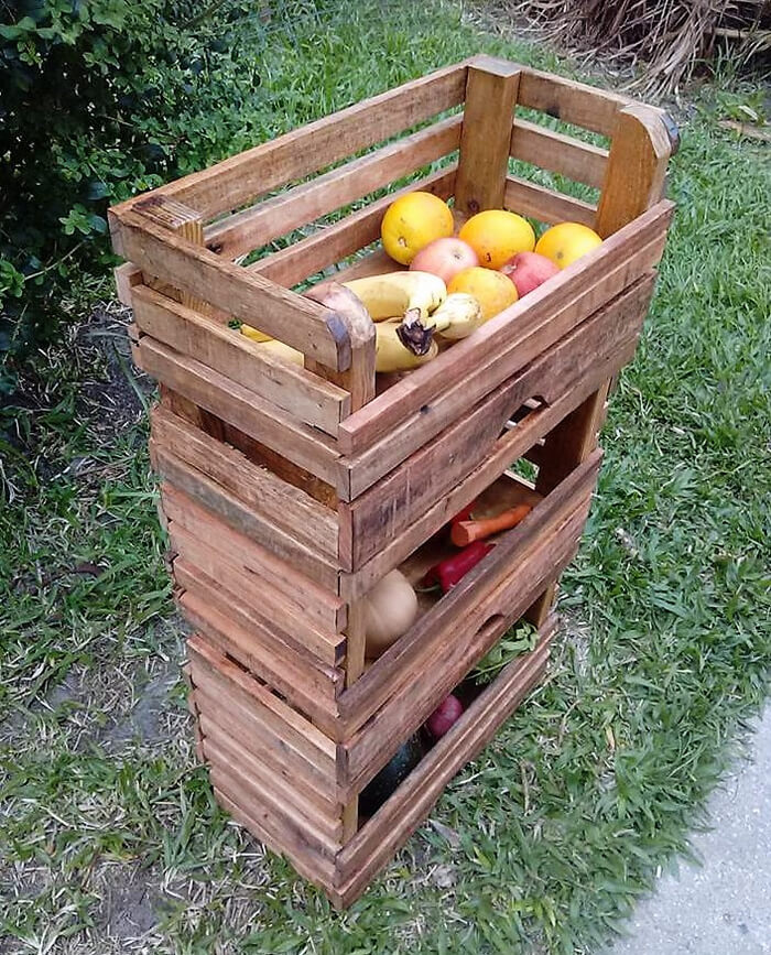 pallets fruit storage rack 4