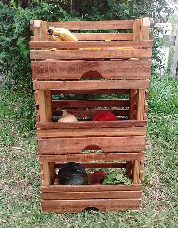 pallets fruit storage rack 5