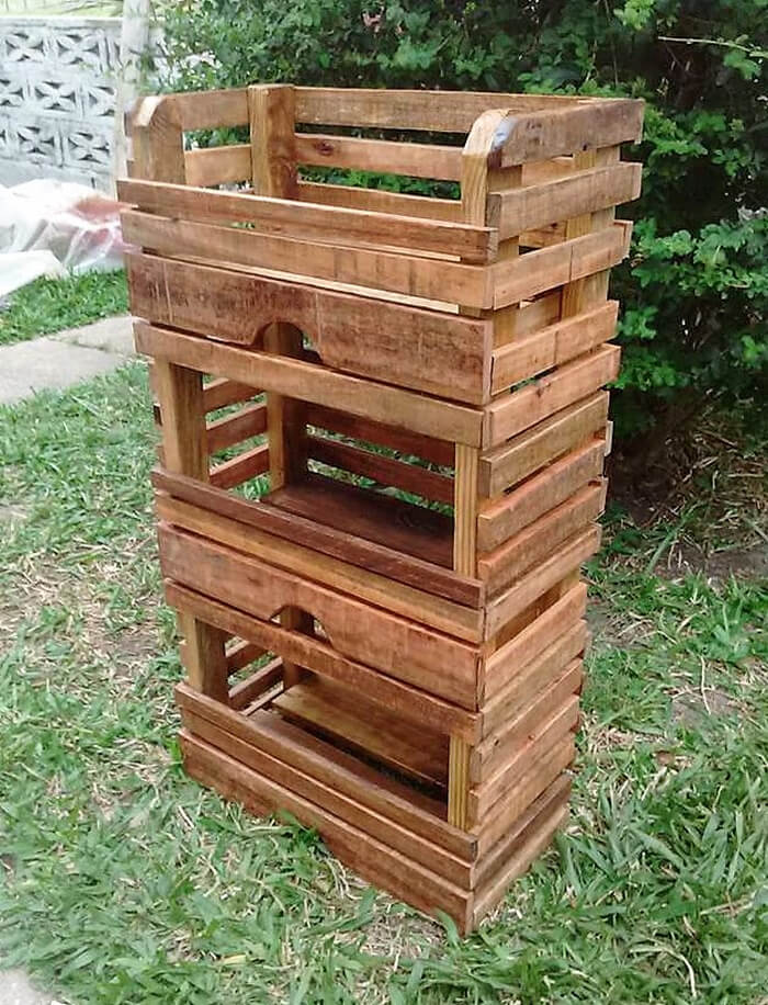 pallets fruit storage rack