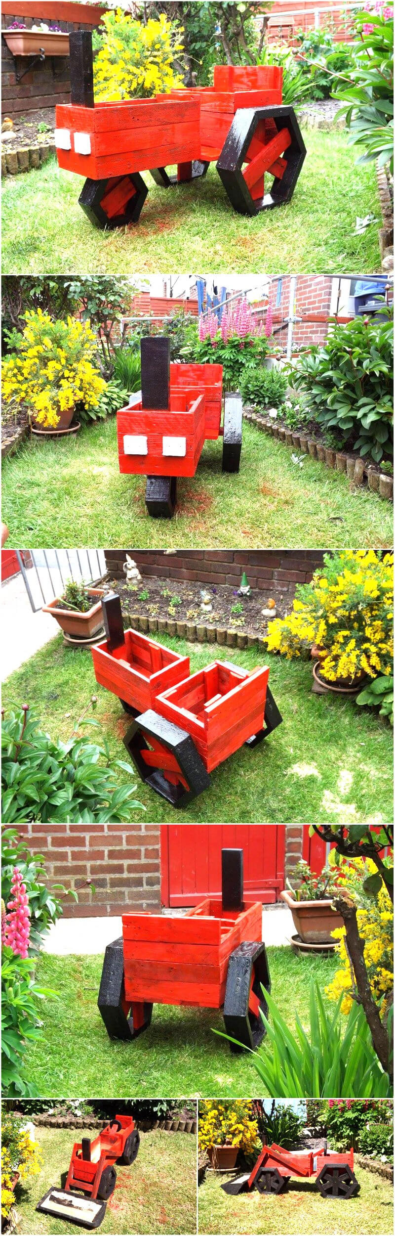 Creative diy wooden pallets recycling ideas wood pallet for Wooden garden ornaments and accessories