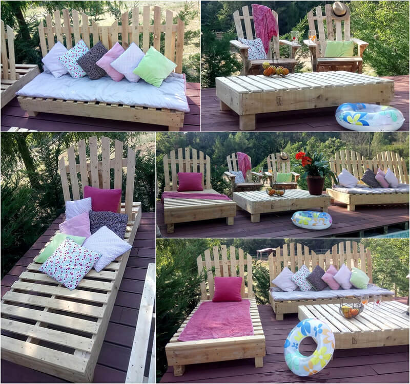 pallets garden terrace furniture