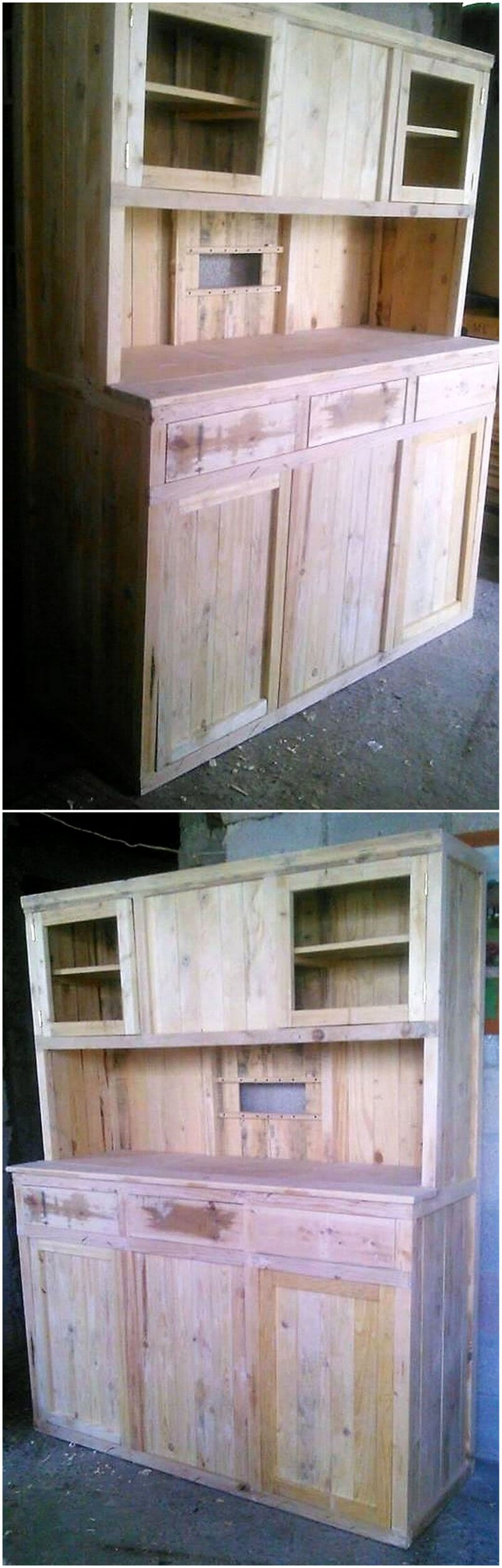 pallets kitchen cabinet plan