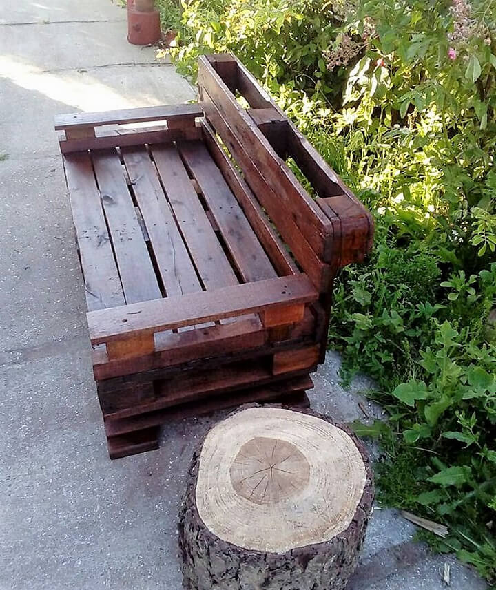 pallets made bench plan