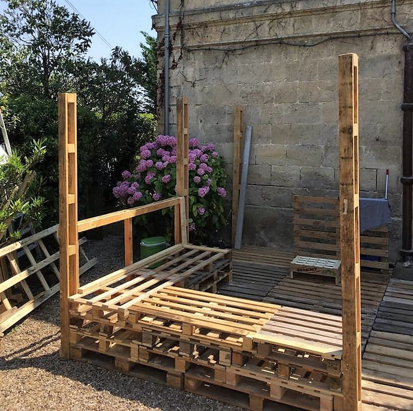 pallets made deck furniture