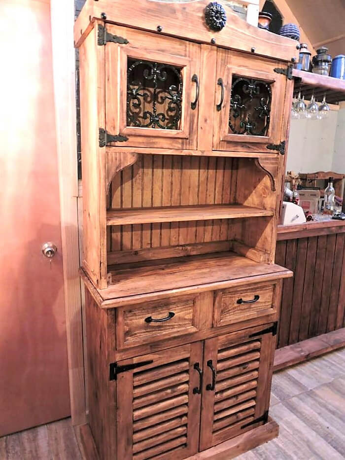 pallets made rustic cupboard