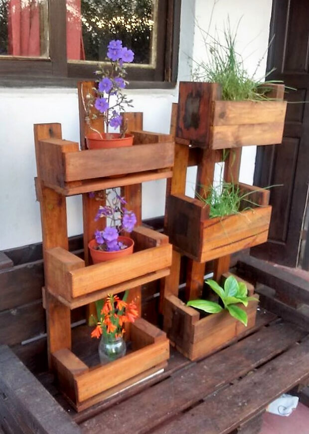 pallets pots stand project
