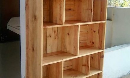Reclaimed Pallets Wooden Made Shelving Cabinet