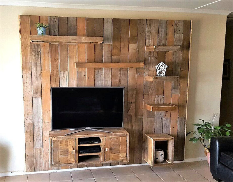 pallets wall art for tv