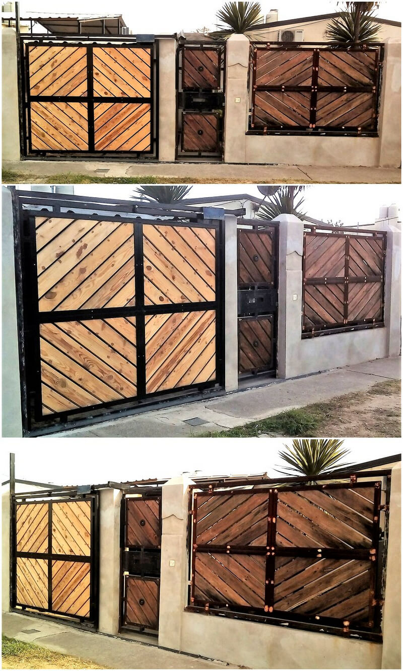 pallets wooden doors and wall plan