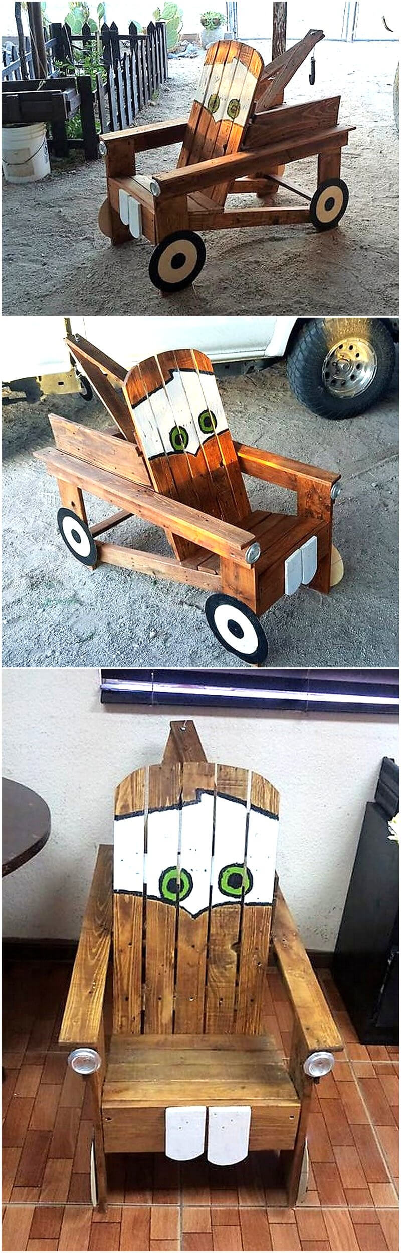 pallets wooden kids toy chair