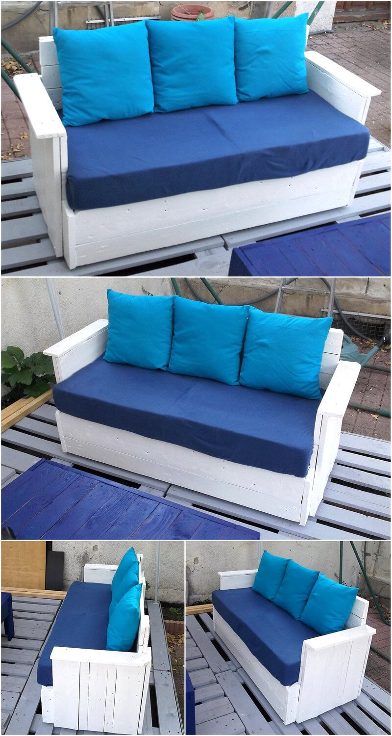 patio couch made with pallets