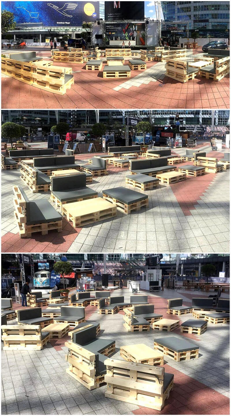 patio furniture out of pallets wood