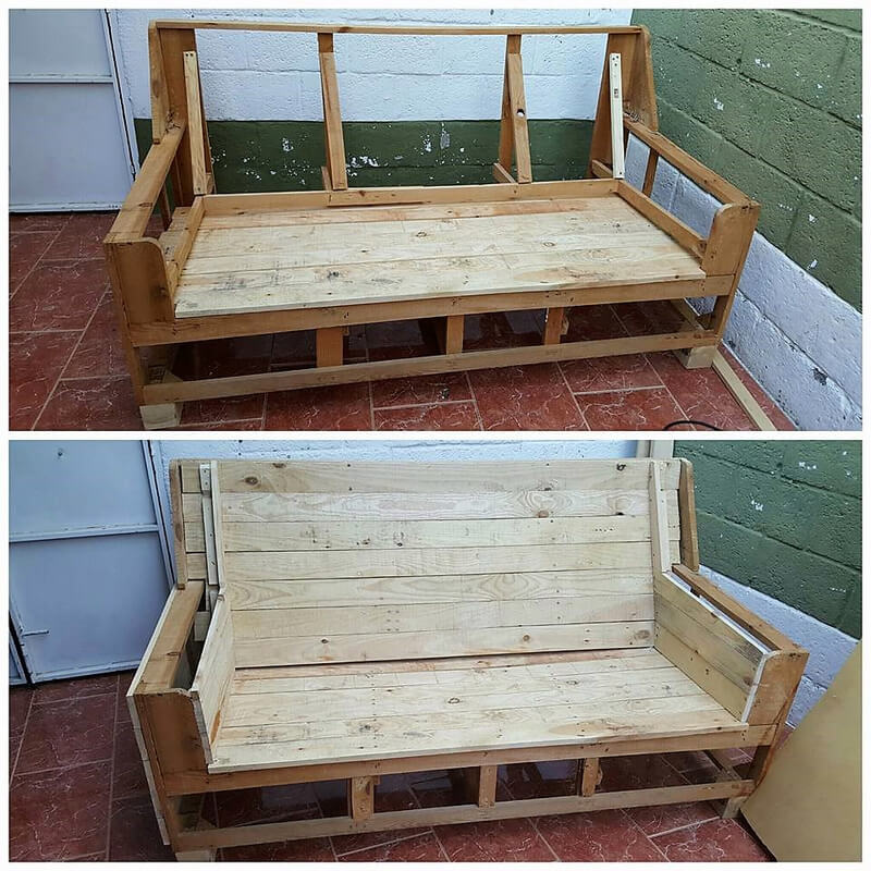 recycled pallet couch