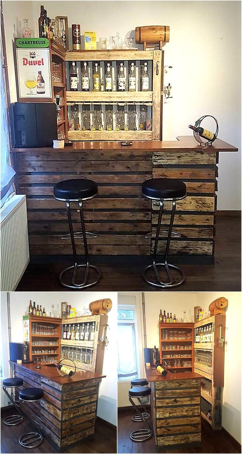 recycled pallets bar plan