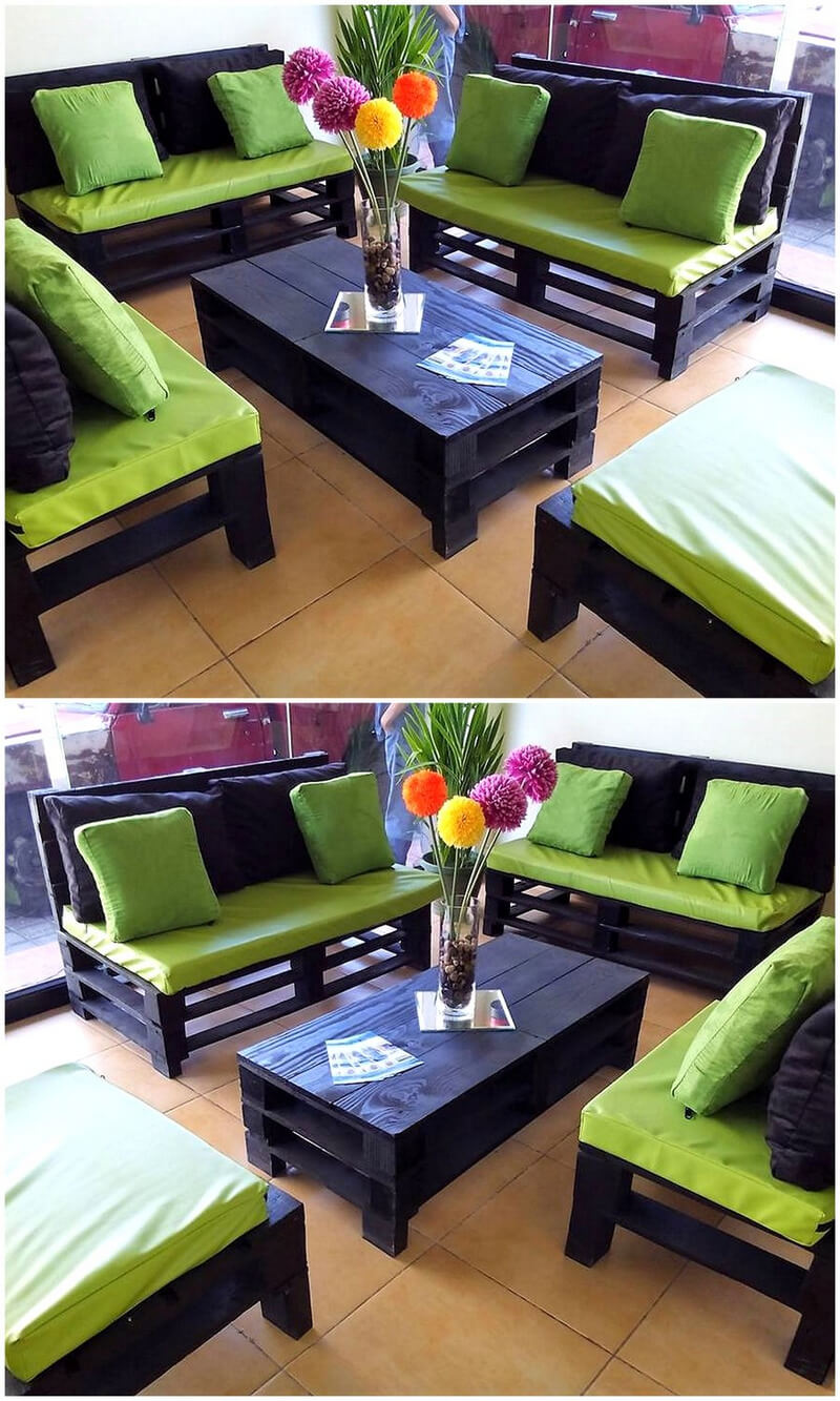 recycled pallets furniture set