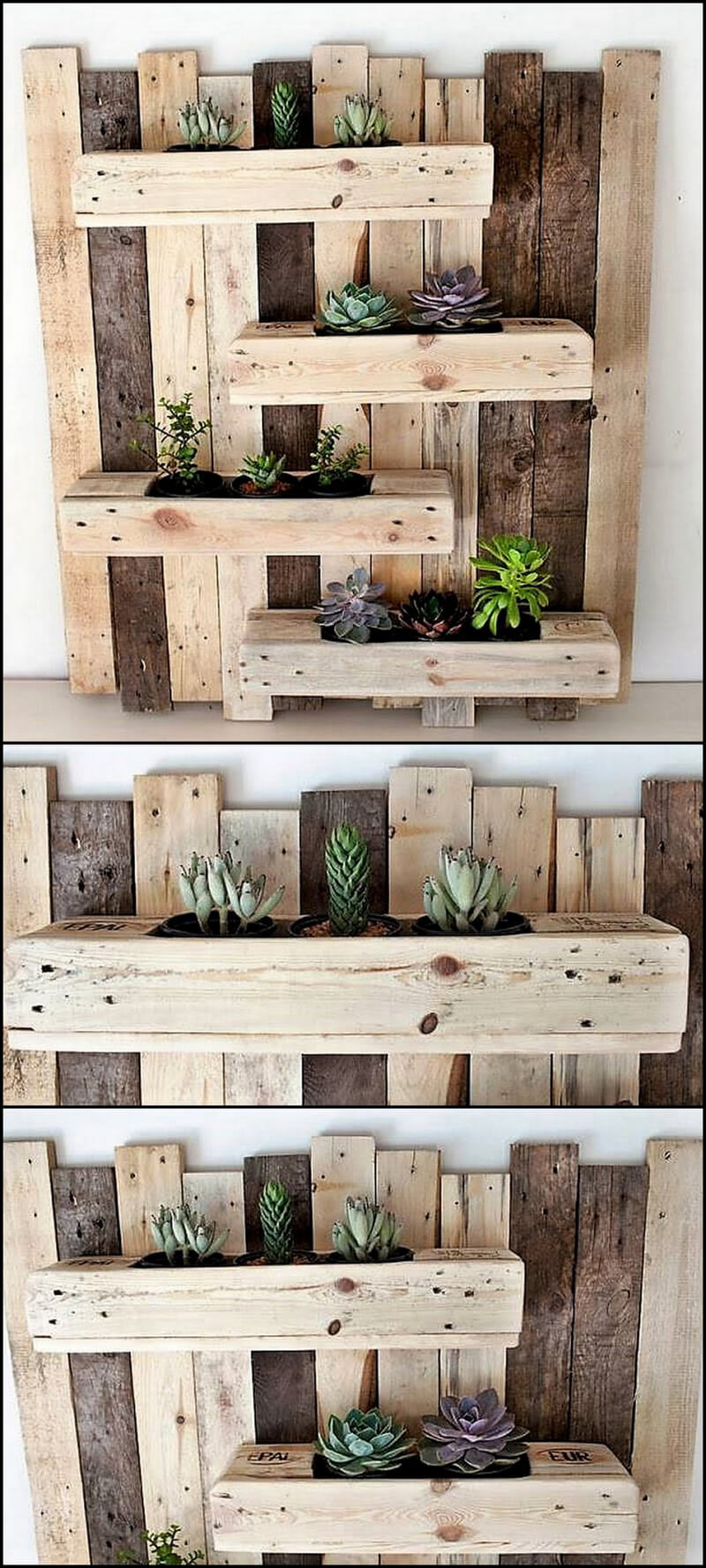 recycled pallets planter
