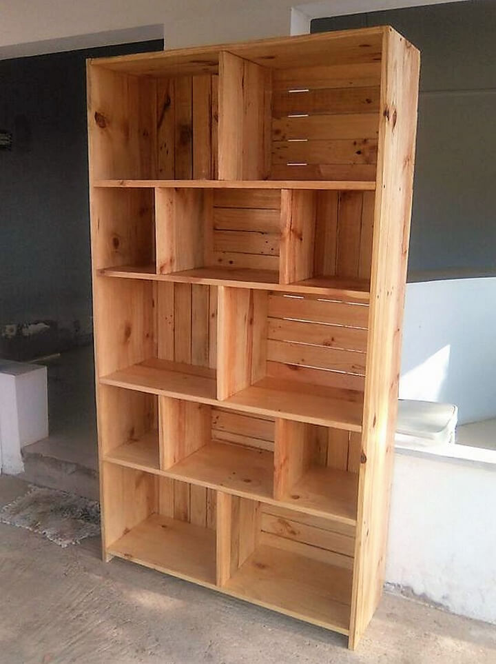 recycled pallets shelving rack
