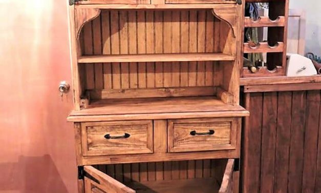 Recycled Wooden Pallets Rustic Cupboard