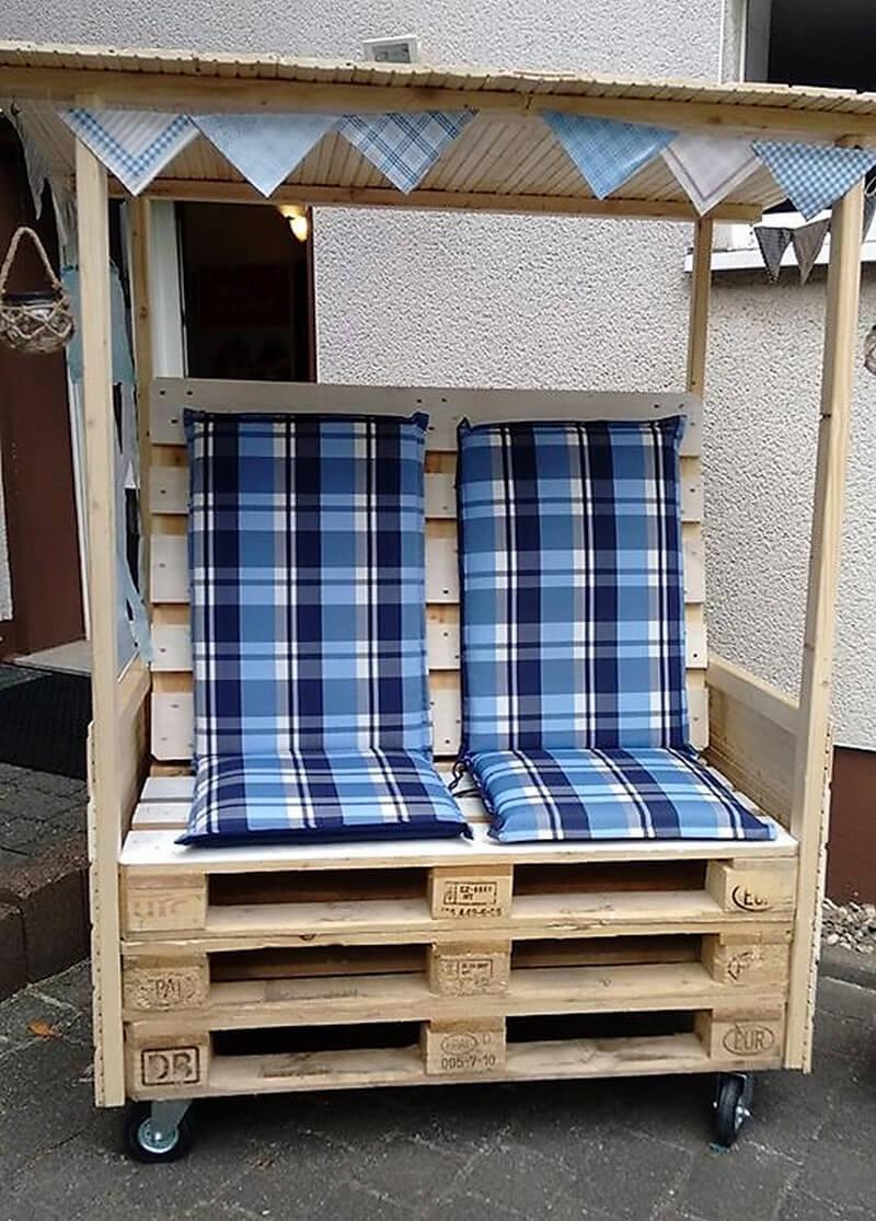 wood pallet Strandkorb