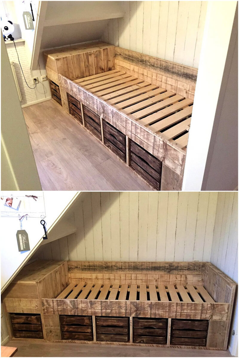 creative creations with reclaimed wooden pallets wood pallet - Wooden Crate Bed Frame
