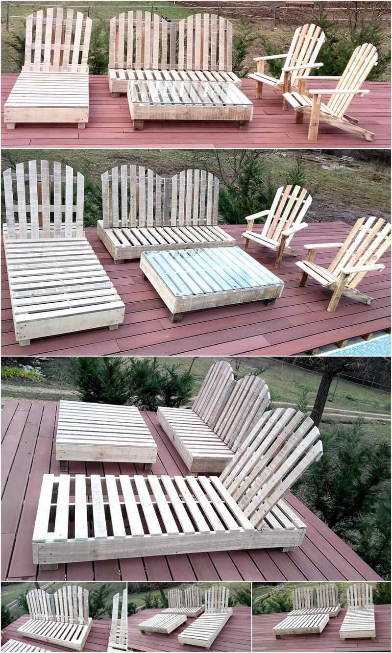 wood pallet patio furniture idea