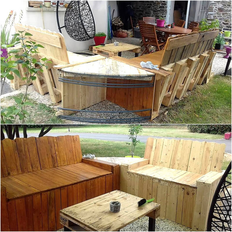 wood pallet patio lounge